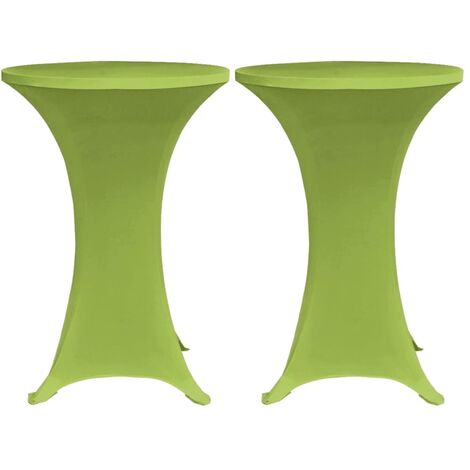 Stretch Table Cover 2 pcs 80 cm Green
