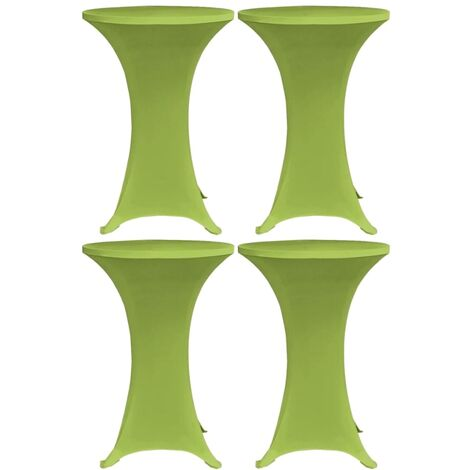Stretch Table Cover 4 pcs 60 cm Green