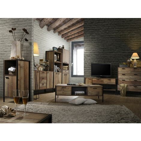Stretton Living Room Furniture Set TV Unit Coffee Table Sideboard Rustic