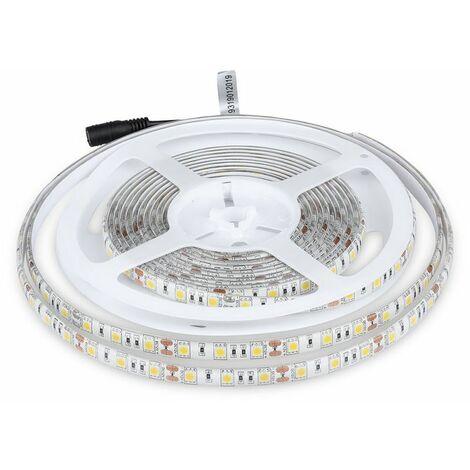 Strip LED V-TAC 6400K 60 LED SMD5050/M Rouleau 5M IP65