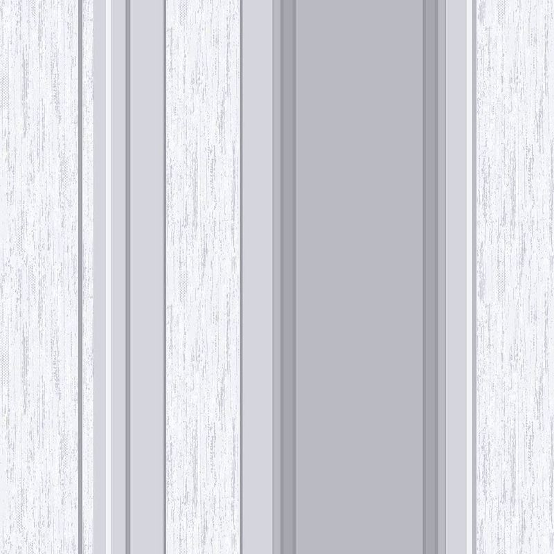 Image of Stripe Wallpaper Striped Stripey Glitter Effect Vinyl Textured Synergy Dove Grey