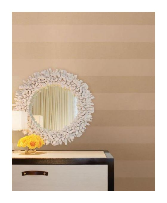 Image of Stripe Wallpaper Striped Stripey Metallic Gold Washable Easy To Hang