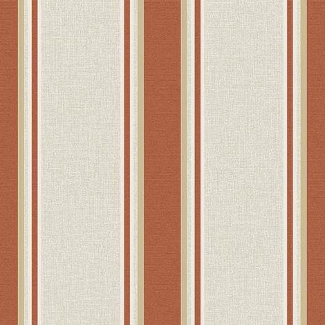 """main image of """"Striped Glitter Wallpaper Sparkling Burnt Orange Gold Embossed Superfresco"""""""