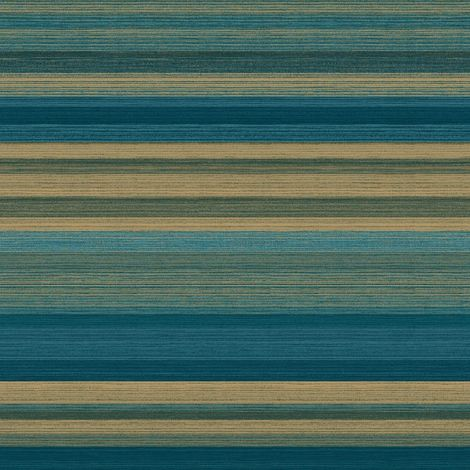 "main image of ""Striped Green Gold Wallpaper Metallic Shimmer Vinyl Stripes Crown Ruben Stripe"""