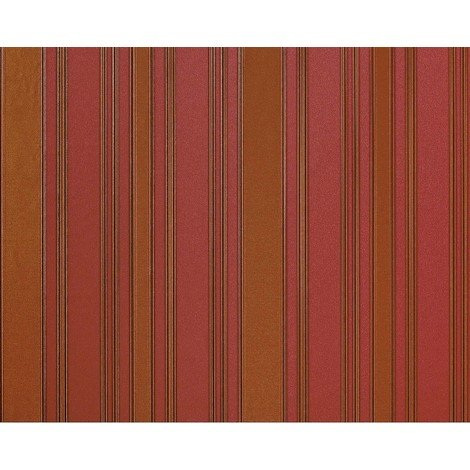 Striped non-woven wallpaper wall EDEM 980-35 Luxury heavyweight classic style strawberry red gold-brown 10.65 sqm (114 sq ft)