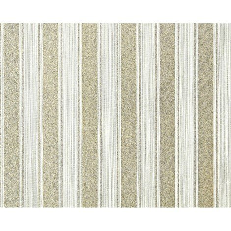 Striped paste the wall wallpaper XXL EDEM 658-95 textured non-woven elegant block stripes green off-white gold glitter 10.65 m2
