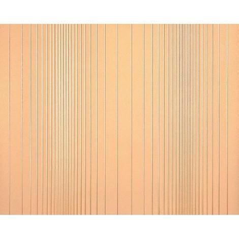 Striped paste the wall wallpaper XXL EDEM 934-32 hot embossed texture nonwoven metallic lustre orange peach off-white 10.65 m2