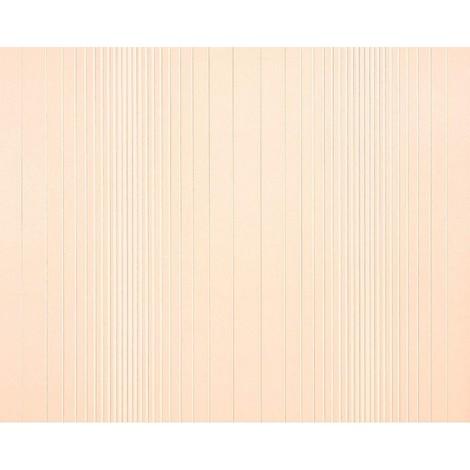 Striped paste the wall wallpaper XXL EDEM 934-33 hot embossed texture nonwoven metallic lustre off-white pinkish cream beige 10.65 m2