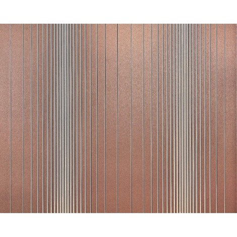 Striped paste the wall wallpaper XXL EDEM 934-34 hot embossed texture nonwoven metallic lustre brown silver 10.65 m2