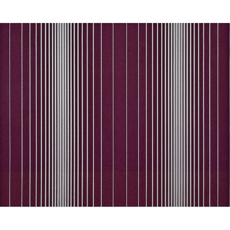 Striped paste the wall wallpaper XXL EDEM 934-35 hot embossed texture nonwoven metallic lustre aubergine purple silver platinum 10.65 m2