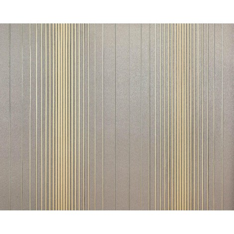 Striped paste the wall wallpaper XXL EDEM 934-37 hot embossed texture nonwoven metallic lustre grey gold 10.65 m2