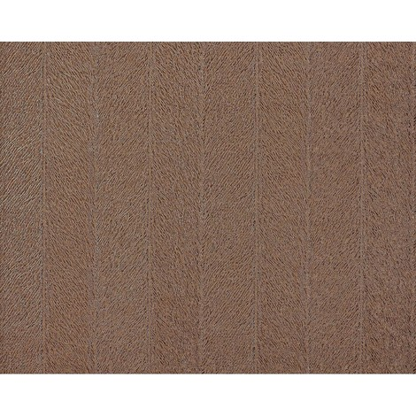 Striped paste the wall wallpaper XXL EDEM 952-26 hot embossed non-woven fur copy subtle stripes brown chocolate brown 10.65 m2