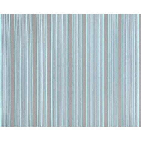 Striped paste the wall wallpaper XXL EDEM 994-37 hot embossed tactile texture non-woven blue light blue mint green grey glitter 10.65 m2