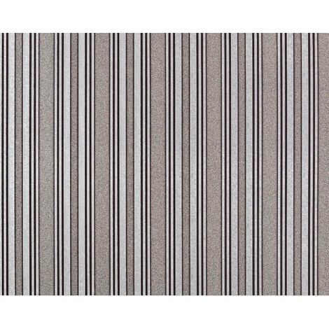Striped paste the wall wallpaper XXL EDEM 999-34 non-woven hot embossed high value metallic effect brown silver grey metallic 10.65 m2