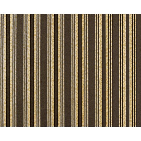 Striped paste the wall wallpaper XXL EDEM 999-36 non-woven hot embossed high value metallic effect brown beige gold metallic 10.65 m2