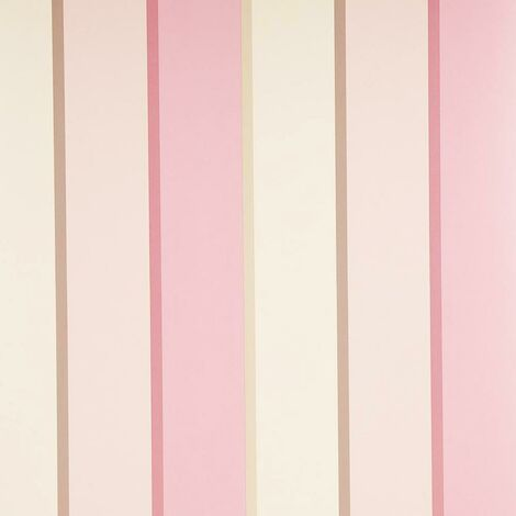 Striped Pastel Wallpaper Pink Blush Cream Natural Gold Stripes Shimmer Sparkle