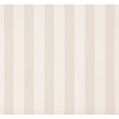 Stripes Kids Teens Room Wallpaper Stripe Beige Cream Nursery Feature Wall Rasch