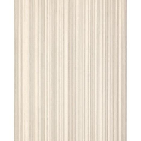 Stripes-wallpaper wall EDEM 557-13 blown vinyl wallpaper textured with a fabric look matt beige light-ivory grey-beige 5.33 m2 (57 ft2)