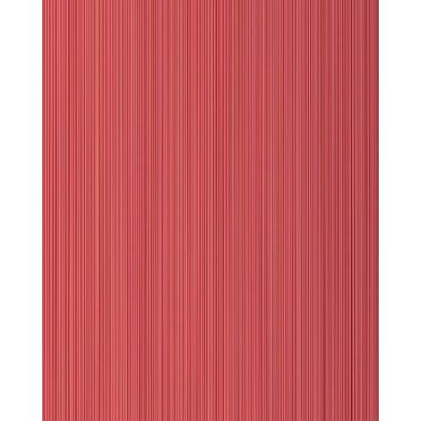 Stripes-wallpaper wall EDEM 557-14 blown vinyl wallpaper textured with a fabric look matt red ruby-red raspberry-red carmine-red 5.33 m2 (57 ft2)