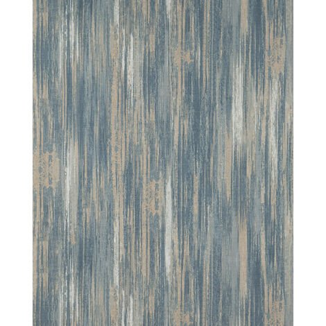 Stripes wallpaper wall Profhome BV919089-DI hot embossed non-woven wallpaper textured with stripes matt beige grey blue white 5.33 m2 (57 ft2)