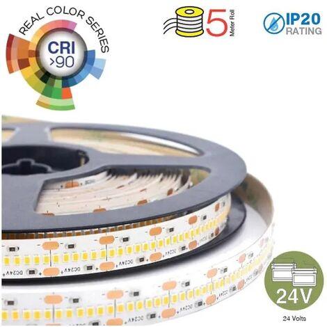 24v 24 v STRISCIA STRINGA LED 1m ADESIVA BIANCO FREDDO