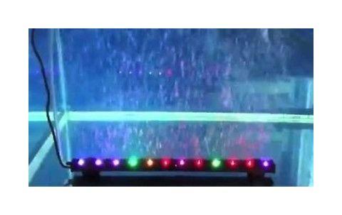Plafoniera Led Acquario Dolce 150 Cm : Striscia di luci a led multicolore con bolle d aria ad