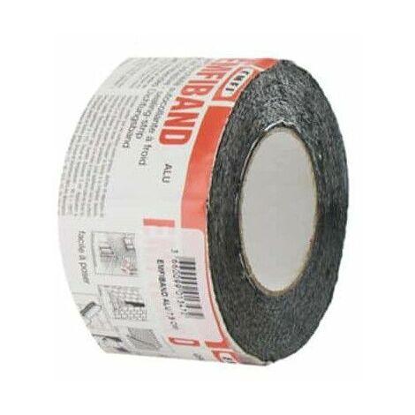 Striscia di tenuta adesiva grigio piombo EMFI freddo 10cm x 10m