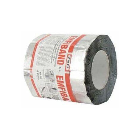 Striscia di tenuta adesiva grigio piombo EMFI freddo 15cm x 10m