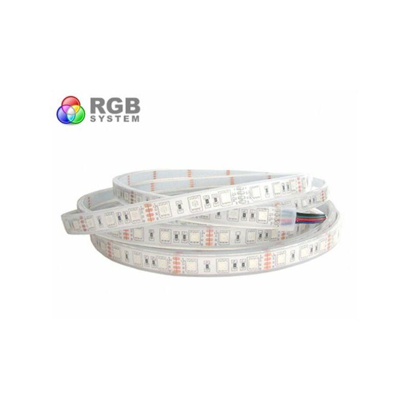 STRISCIA ADESIVA LED SMD LUCE MULTICOLOR 5050 300LED BOBINA 5 METRI STRIP RGB