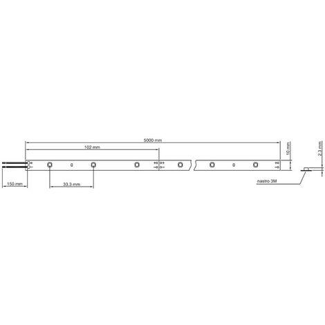 Striscia Strip Led Ledco 60W 24V 3000K IP20 5 metri SL60LBC20 - 698 SL60LBC20