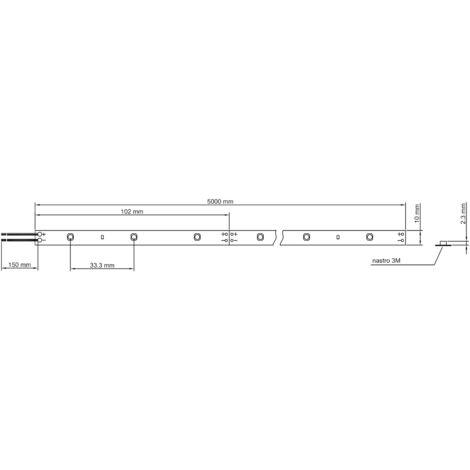 Striscia Strip LED Ledco 60W 3000K 12V 5 metri IP65 esterno SL60LBC65/12 - 698 SL60LBC65/12