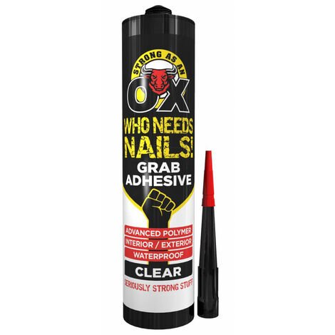 Strong as an Ox Sticks Like Nails Fast Grab Adhesive Clear 280ml