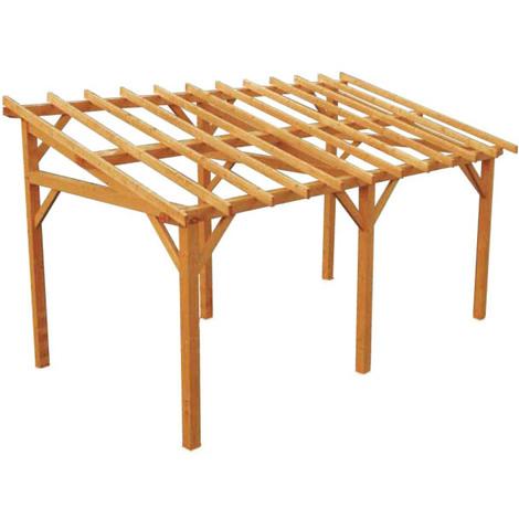 Structure autoportée à adosser en bois Vanoise 15,34m²