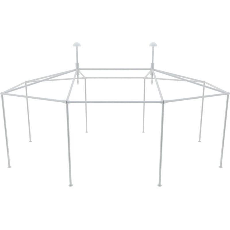 Vidaxl - Structure de tente chapiteau pavillon jardin et les accessoires