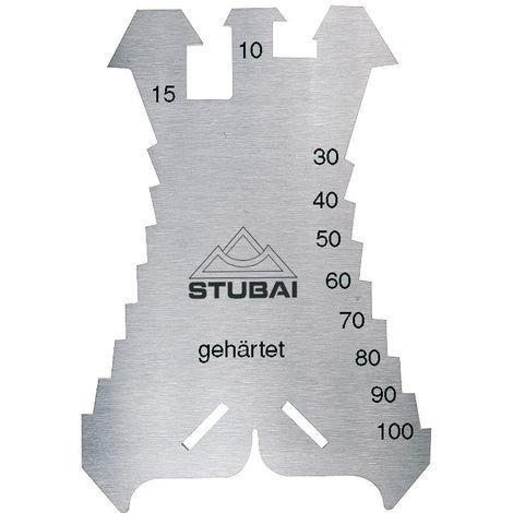 STUBAI Anreißschablone 140x100x1.3 mm Maßeinteilung 5-100 mm in 5 mm Schritten