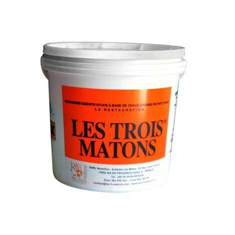 Stuc Italien Prêt À L'Emploi - Les 3 Matons - 5 kg