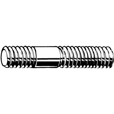 Stud metal end ≈ 1,25d DIN 939 Steel Plain 5.6 (AD-W7) For pressure vessels