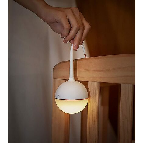 """main image of """"Student Reading Light, Small White Accompanying Lamp, Table Lamp, Rechargeable Night Light, Creative Outdoor Lamp Camping Light"""""""