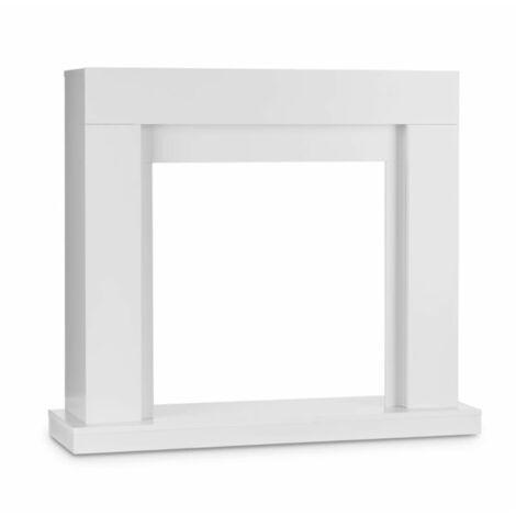 "main image of ""Studio Frame Fireplace Mantel Modern Design White"""
