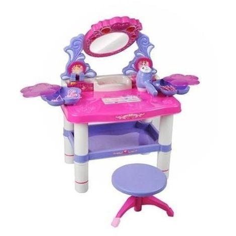 Studio Table de coiffure coiffeuse musical pour enfants avec tabouret