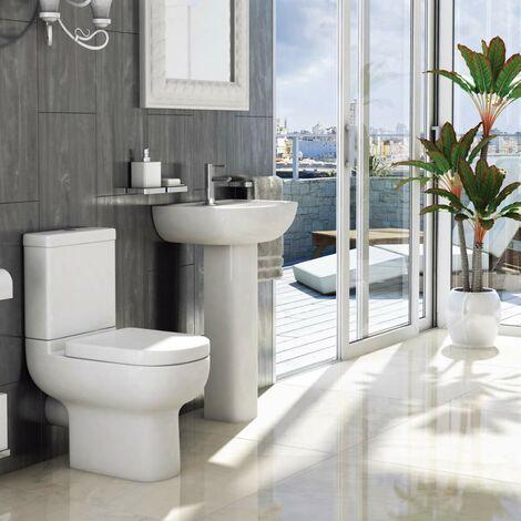 Studio Toilet & Basin Bathroom Suite - 1 Tap Hole
