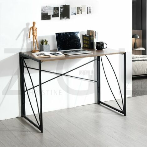 Study Desk Folding Computer Desk No-Assembly Simple Study Desk Writing Table Home Office Desk for Adult & Kids