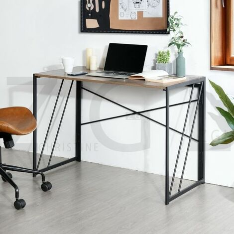 Study Desk Modern Folding Computer Desk No-Assembly Simple Study Desk Writing Table Home Office Desk for Adult & Kids