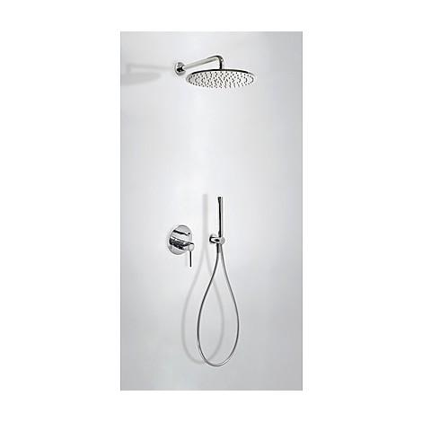 STUDY-TRES - 26298091 - Kit de ducha monomando empotrado con cierre y regulación de caudal.