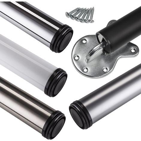 Stützfuß klappbar Ø 50 mm / 710 mm höhenverstellbar mit verschiedenen Oberflächen