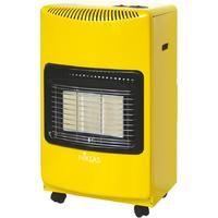 Stufa a gas 4200W gialla 3 elementi infrarossi riscaldamento 120mc casa NIKLAS