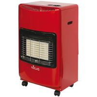 Stufa a gas 4200W rossa 3 elementi infrarossi riscaldamento 120mc casa NIKLAS