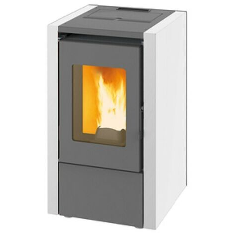 Stufa a pellet 6,15 kw king 60 colore bianco made italy - King