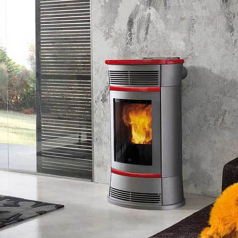 Stufa a Pellet ventilata canalizzabile Edilkamin Funny 11 Kw design ...
