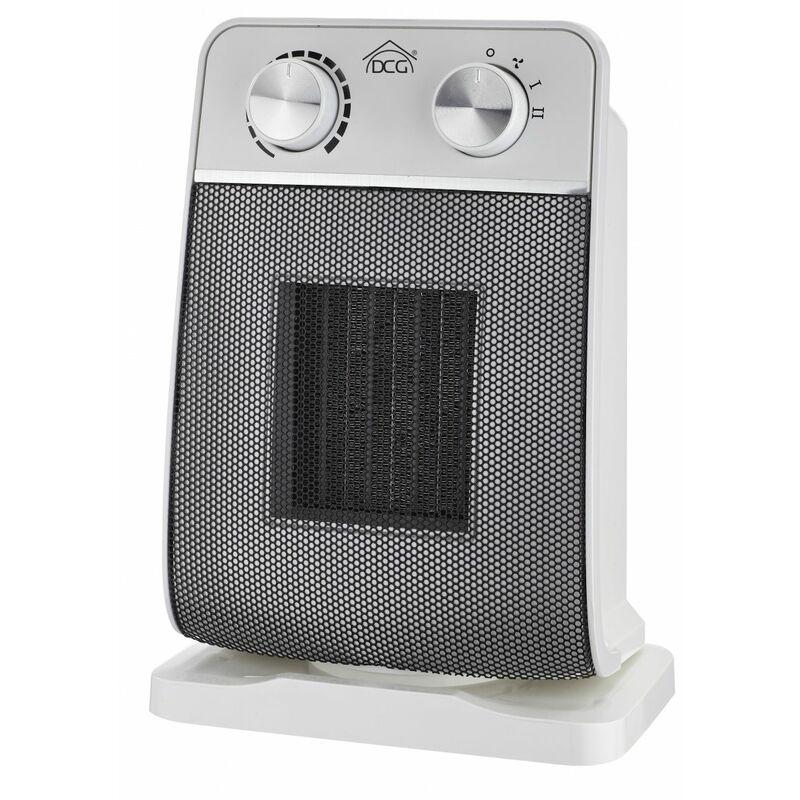 PTC922 stufetta elettrica Stufetta a raggi infrarossi Interno Grigio, Bianco 1500 W Dcg Eltronic